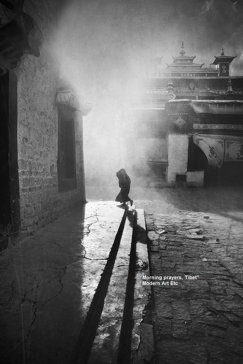 Black white art photography morning prayers by william chua