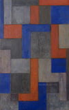 Abstract oil painting - Architectural forms -14.5x23.5x1.75 in. Stephen Cimini