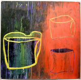 Large Oil on Paper - Vessel Red
