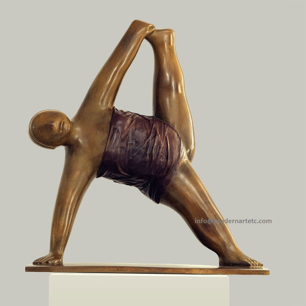 "Contemporary bronze sculpture ""Yoga, No. 3"" Bronze, 2009"