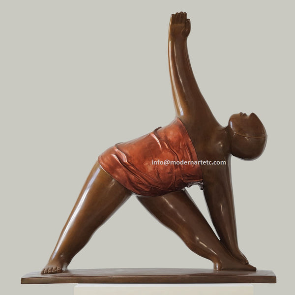Contemporary bronze - Yoga, No. 4, Bronze, 2009