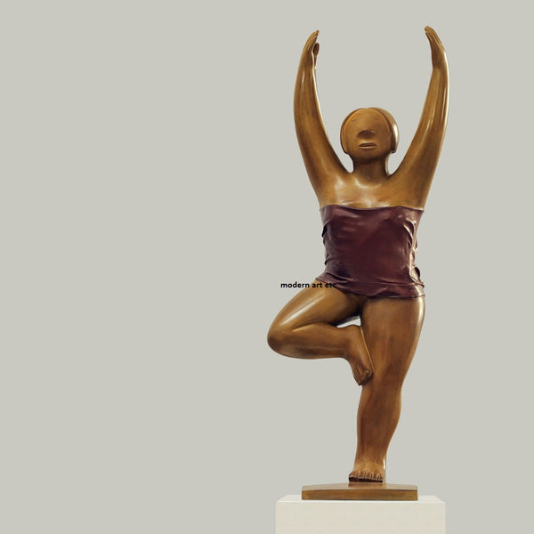 "Contemporary Bronze Sculpture - ""Yoga Series - No. 6""  2009"