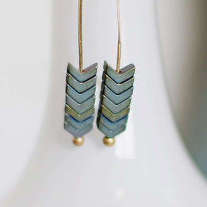 Arrow Stone Drop Earrings (more colors)