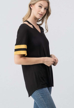 Black n Gold Varsity Striped
