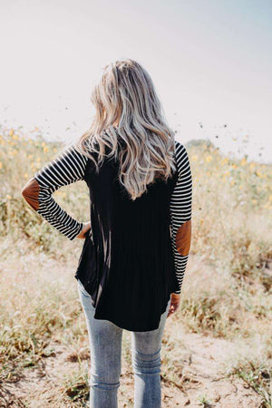 Black Patched Top