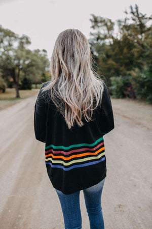 Black Rainbow Stripe