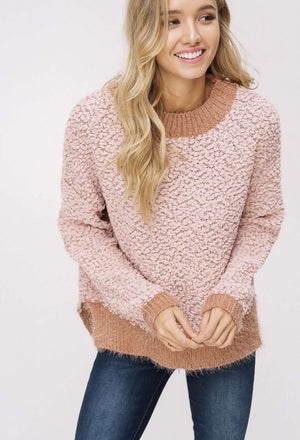 Blush Popcorn Sweater