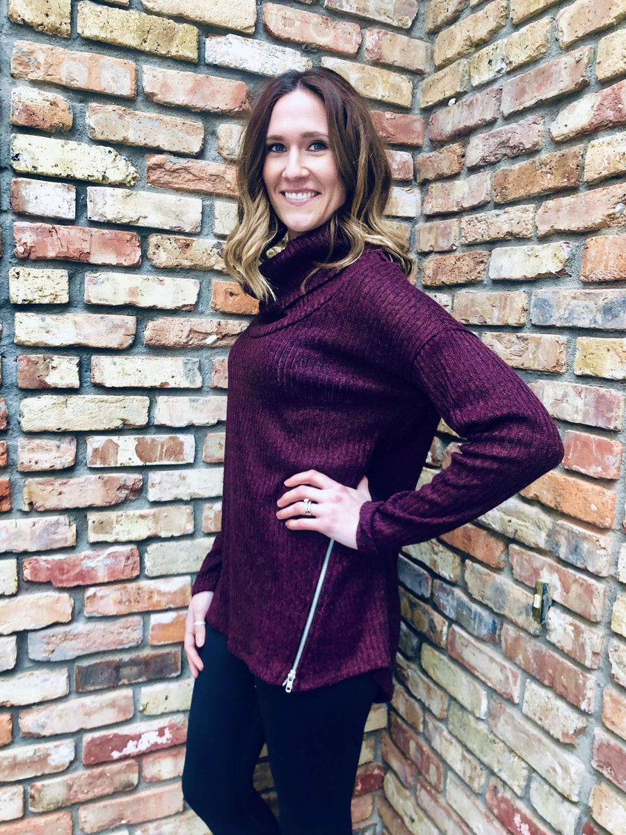 Burgundy Zipper