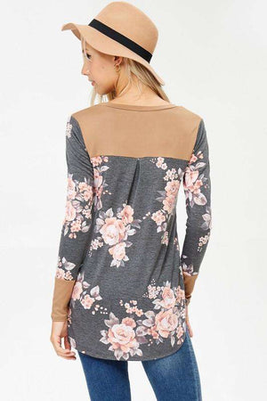 Charcoal Floral