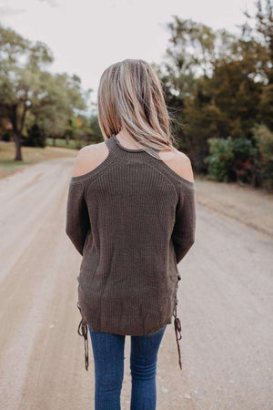 Cold Shoulder Sweater (more colors)