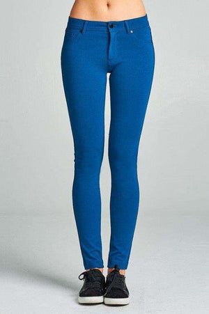 Deep Teal Skinnies Plus