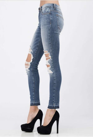 Destructed Knee Denim