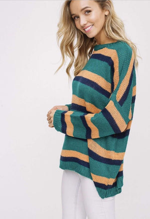 Emerald Striped Sweater
