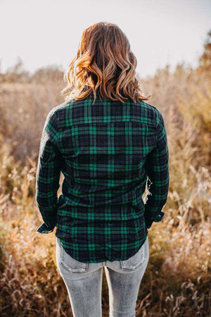 Green/Navy Flannel