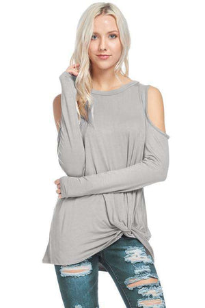 Grey Cold Shoulder