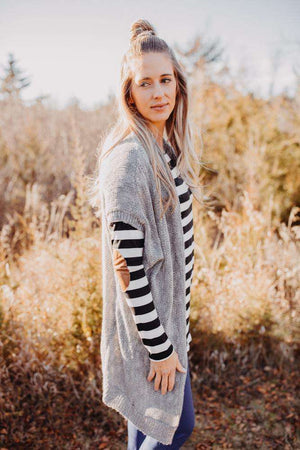 Grey Sweater Cardigan