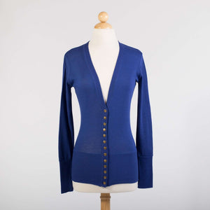 Ink Blue Snap Cardigan