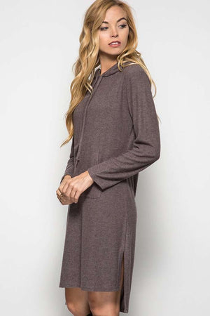 Mocha Hooded Dress