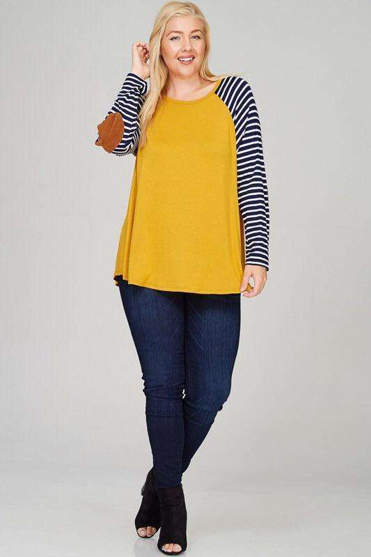 Mustard Patched Top