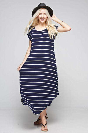 Navy Striped Maxi