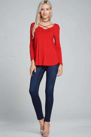 Red Criss-Cross Top