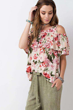 Ruffled Floral