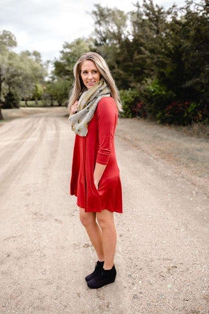 Rust Tunic Dress