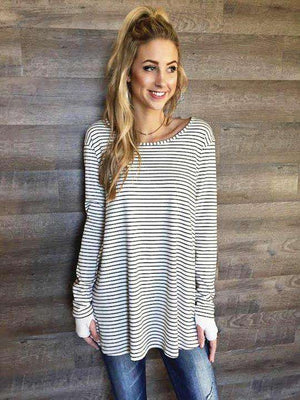 Striped Thumbhole