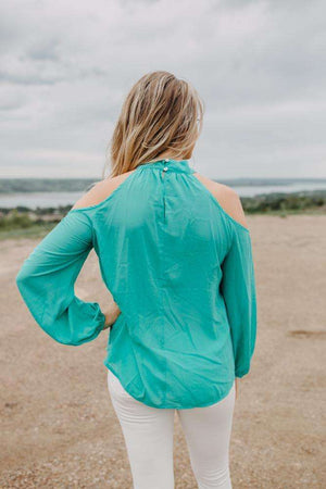 Teal Cold Shoulder
