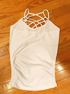 White Criss-Cross Cami