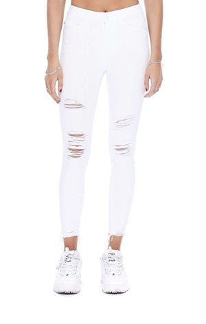 White Distressed Skinny