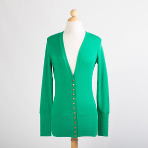 Benetton Green Snap Cardigan