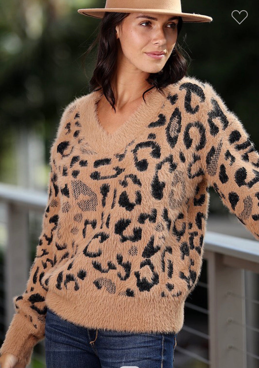 Soft Leopard Sweater