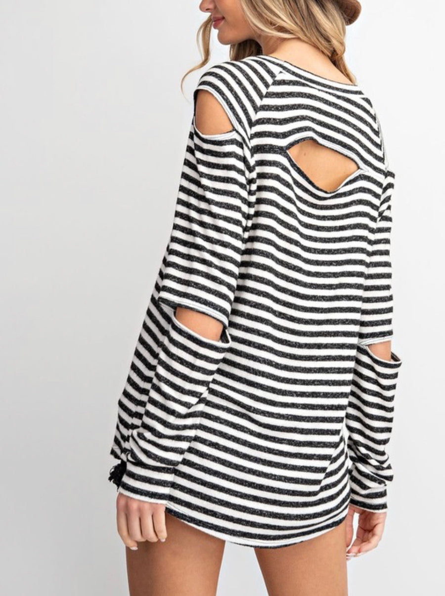 Cut Out Striped