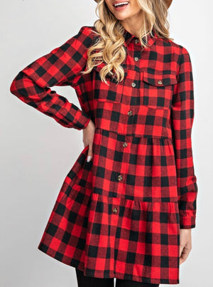 Plaid Flannel Tunic
