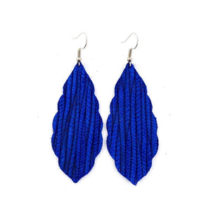 Palm Leather Earrings