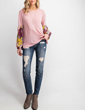 Patched Print Top