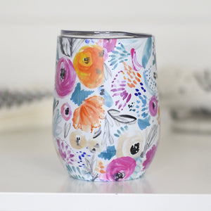 Pretty Floral Travel Cup
