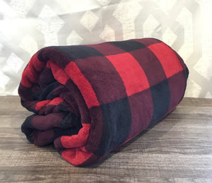 Buffalo Plaid Fleece Blanket