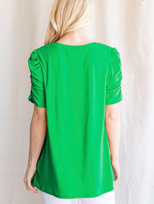 Kelly Green Ruched