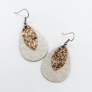 Layered Glittered Earrings