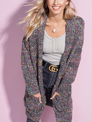 Charcoal Speckled Cardi