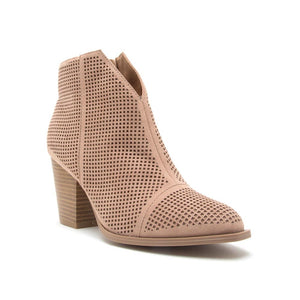 Taupe Suede Bootie