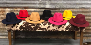 Colored Brim Hats