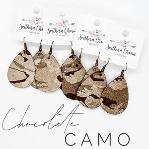 Chocolate Camo Earrings