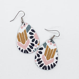 Designed Leather Earrings