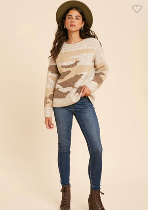 Oatmeal Camo Sweater