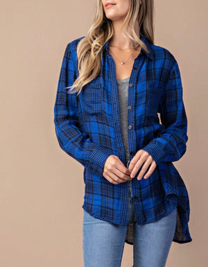 Royal Blue Flannel