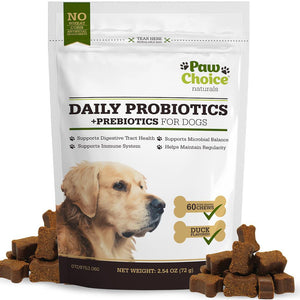 Dog Probiotic Chews With Prebiotics | 60 Chews