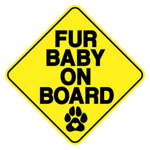 Fur Baby On Board Vinyl Decal